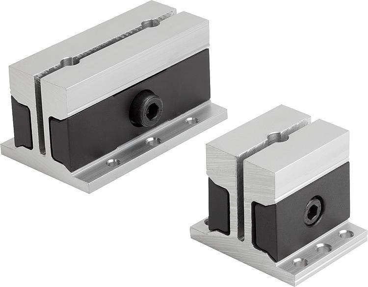 Étau de bridage de forme carré - Élément de serrage et de centrage