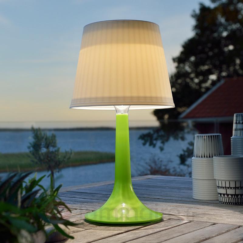 Lampe à poser solaire LED verte Assisi Sitra - Toutes les lampes solaires