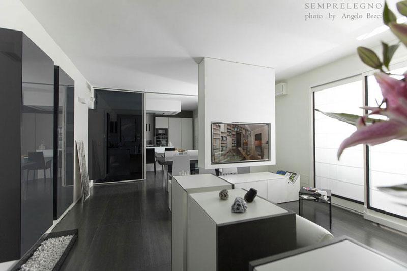 Arredamento su misura per soggiorno design con domotica for Soggiorni moderni lissone