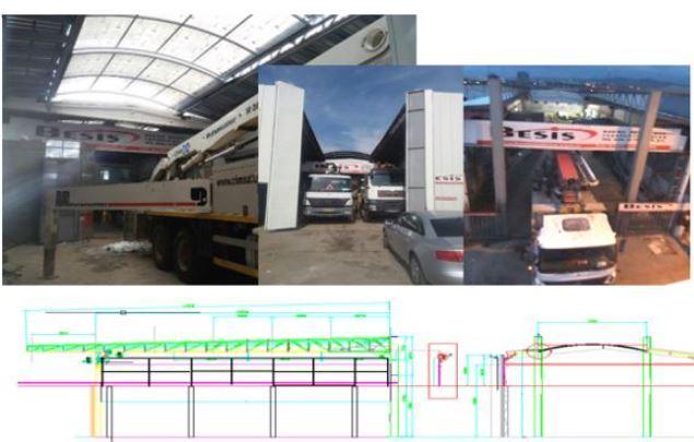 Açılır Kapanır Tavanlı Prefabrik Çelik Yapılar