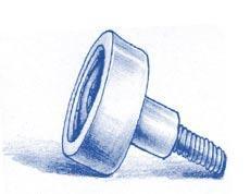 Flache Laufrollen mit Achse - Laufrollen