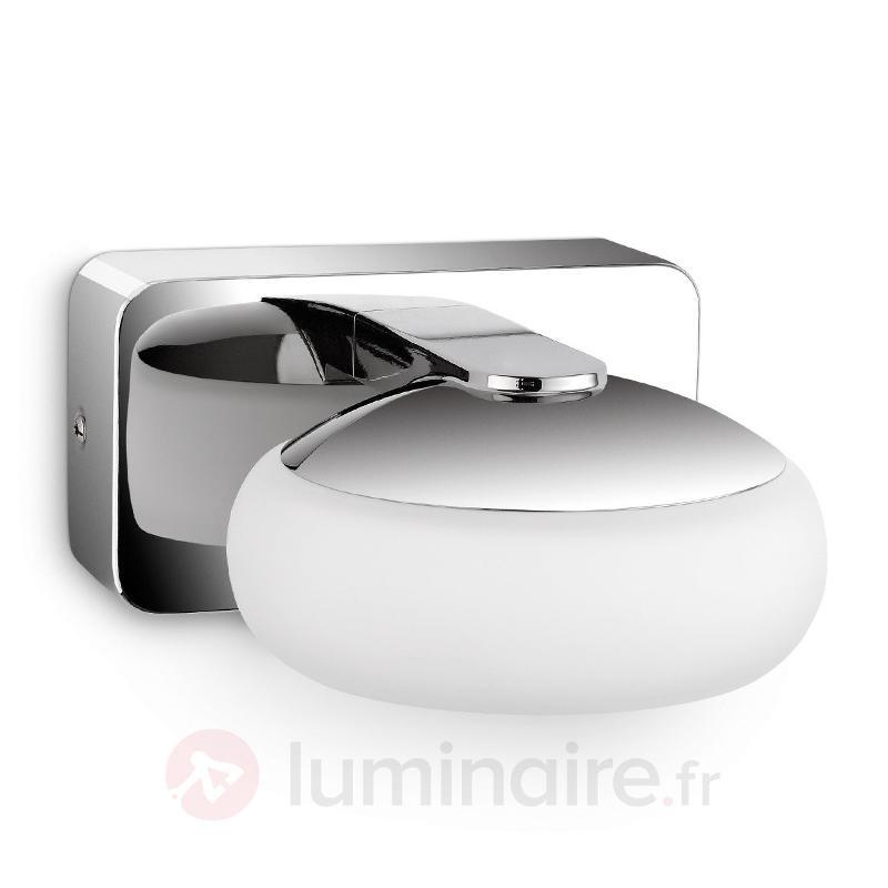 Applique LED Silk à une lampe IP44 - Salle de bains et miroirs