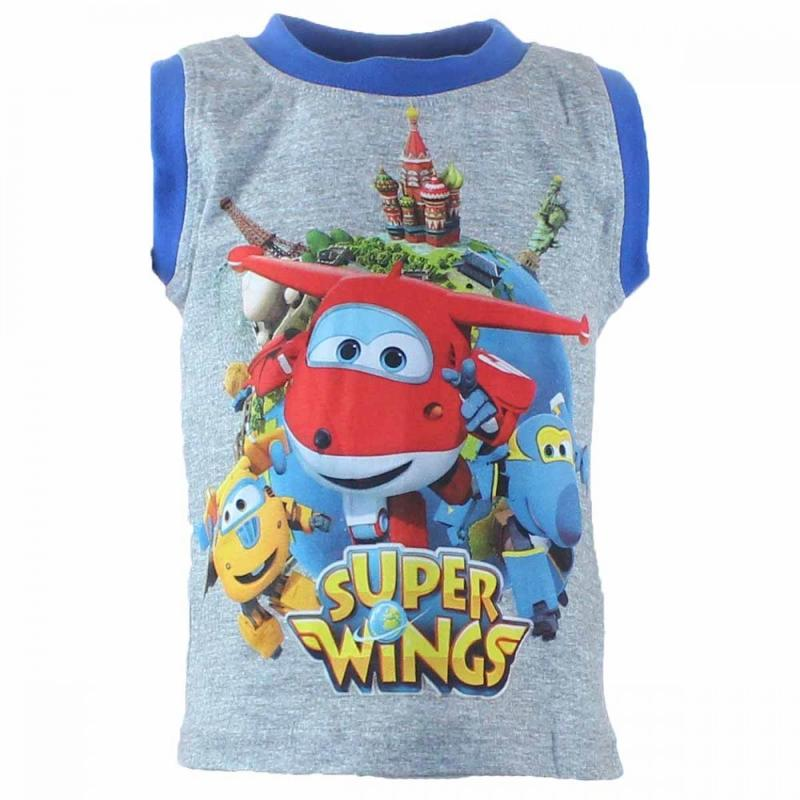 10x Debardeurs Super Wings du 2 au 6 ans - T-shirt et polo manches courtes