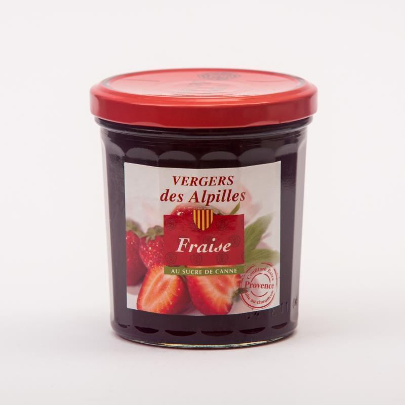 Vergers des Alpilles - Fraise - Confitures au sucre de canne