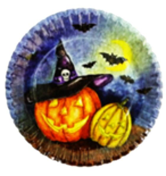 "Halloween Themed Plate - Halloween Themed Paper Plate 18"""