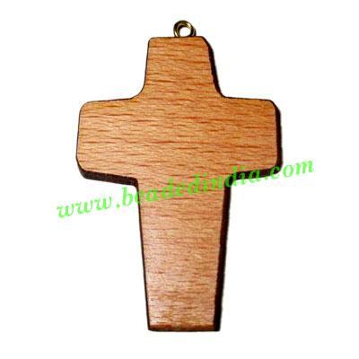 Handmade wooden cross (christian) pendants, size : 43x29x4mm - Handmade wooden cross (christian) pendants, size : 43x29x4mm
