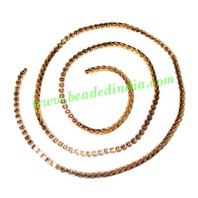 Gold Plated Metal Chain, size: 2mm, approx 51.5 meters in a  - Gold Plated Metal Chain, size: 2mm, approx 51.5 meters in a Kg.