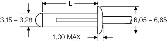 """Blind rivet technology - POP® - """"LSR"""" - Load-spreading rivets - Domed head"""
