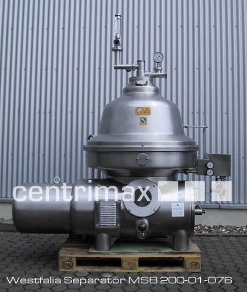 GEA Westfalia Separator Self-cleaning disc centrifuge - MSB 200-01-076