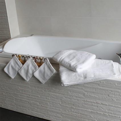 Linge de bain : serviettes et peignoirs - Linge éponge blanc Venise 500gr