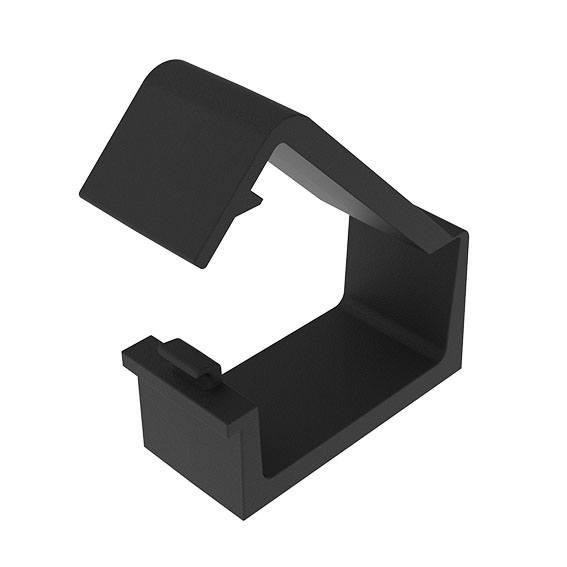 Cable Fixations;  Universal-, Cross-, Clip-Binding - Cable Binder to secure cables to aluminum profiles, different designs