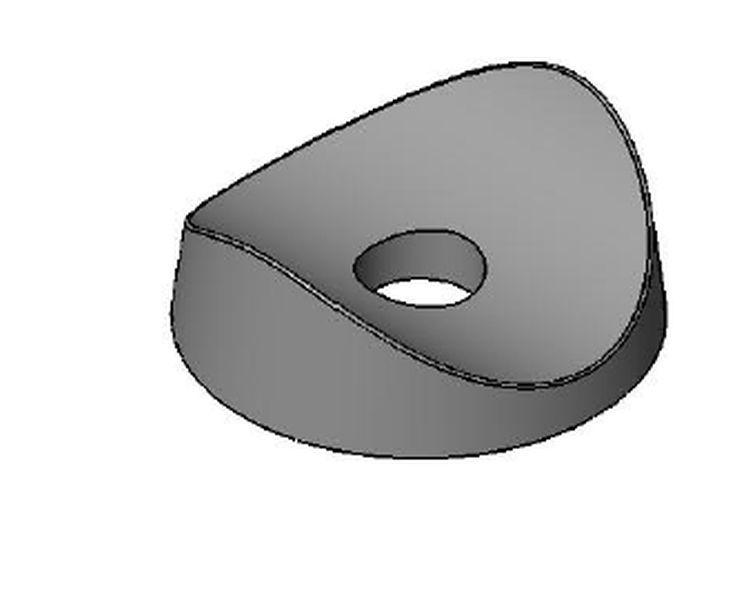 Rohrstütze 32mm z. Anschrauben - Kunststoff - schwarz - Rohrstopfen