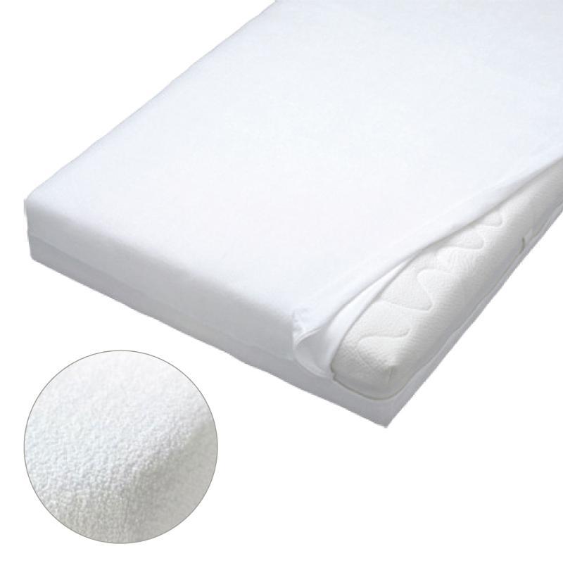 Frottee-Spannbettbezug, Farbe weiß, Maße: 90 x 200 - Matratzenschutzbezüge