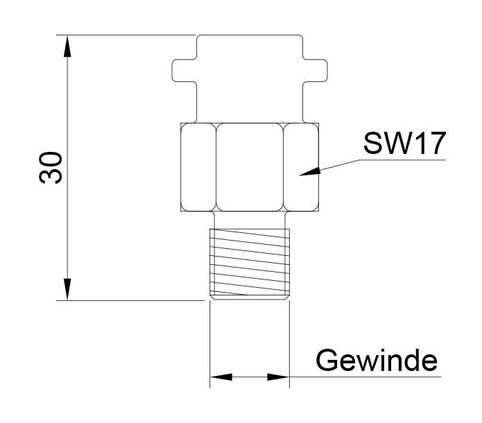 Plug-in thermocouple | Fibreglass | Ni120 - Plug-in resistance thermometer