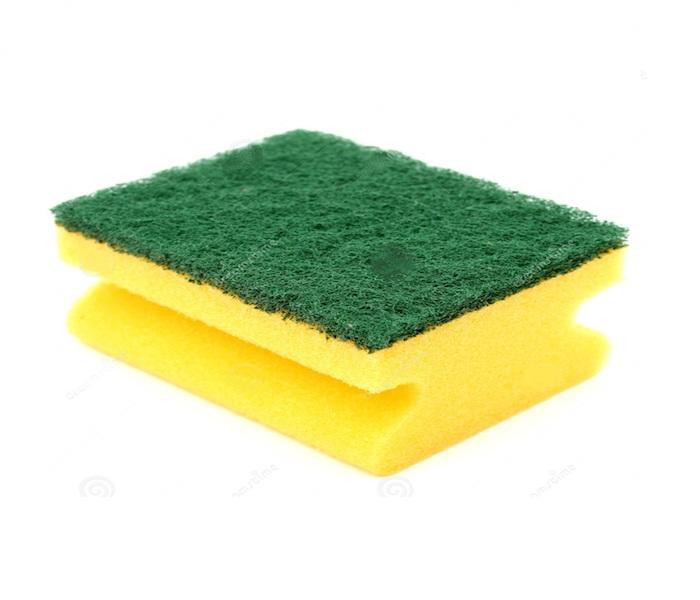 Cleaning Sponge  - Cleaning sponge with abrasive, Available in different sizes and colours