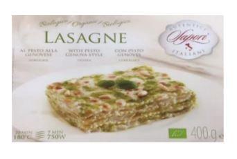 Lasagnes au pesto - Plats cuisinés biologiques et surgelés