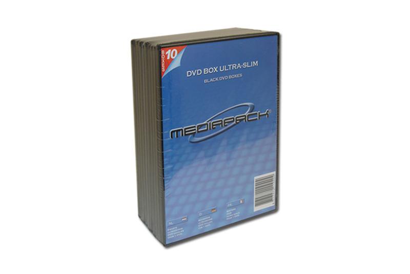 DVD Boxen Slimline - 10er Pack - MPI - 7mm - schwarz - Retailverpackungen & Zubehör