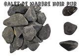 Galets de marbre - Galet noir pur