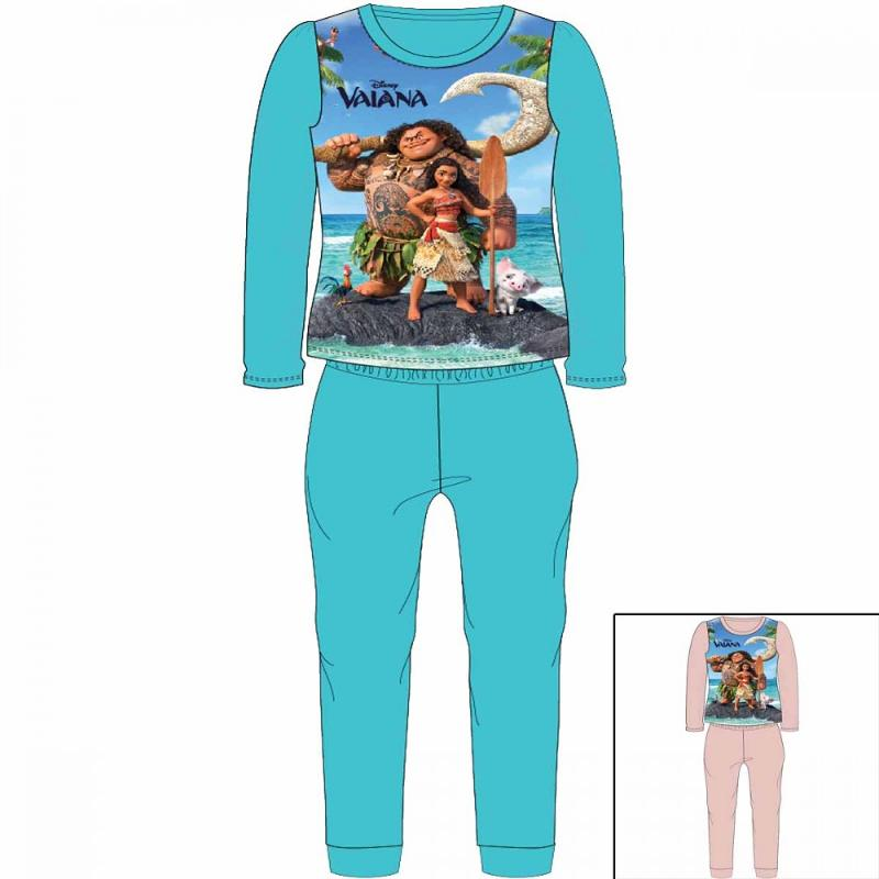 12x Pyjamas polaires Vaiana du 2 au 8 ans - Pyjama