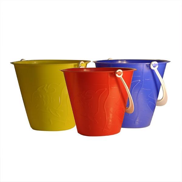 6 Inch Embossed Beach Bucket - Bucket and Spade