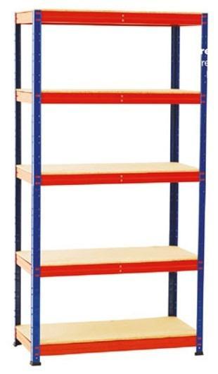 Estantes Metálicas modulares en Kit - Estantes em Kit; com prateleiras de madeira