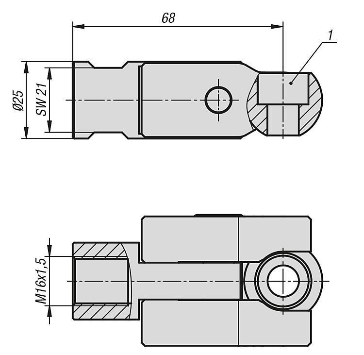 Kit de fixation avec bille de serrage pour... - Éléments d'appui et de support