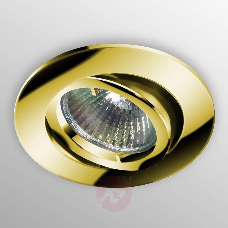 Flexible LED recessed light SNOK gold - Recessed Spotlights