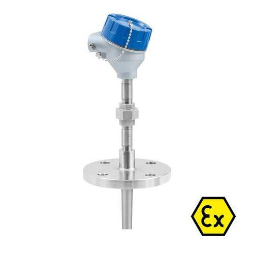 -200 °C ... +600 °C | OPTITEMP TCA-TF57 - Sensor de temperatura de termopar / de brida / con termopozo