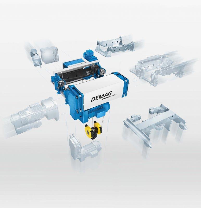 Demag Seilzug DMR - Modularer Seilzug DMR: EIn Seilzug. Zwei  Bauformen. Alle Möglichkeiten.