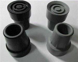 rubber crutch tips - Walking stick foot sleeve crutch feet three-legged crutch rubber ferrule