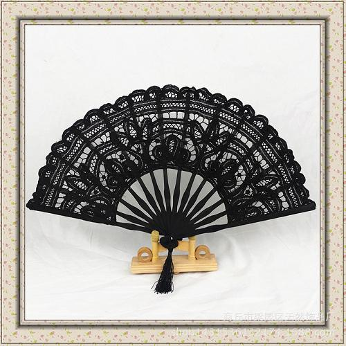 Hand embroidery Bamboo-based lace fan - Craft fan