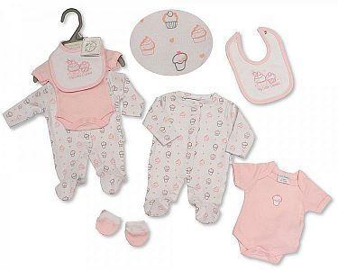 Premature Baby 4 Pieces Set - Cupcake -