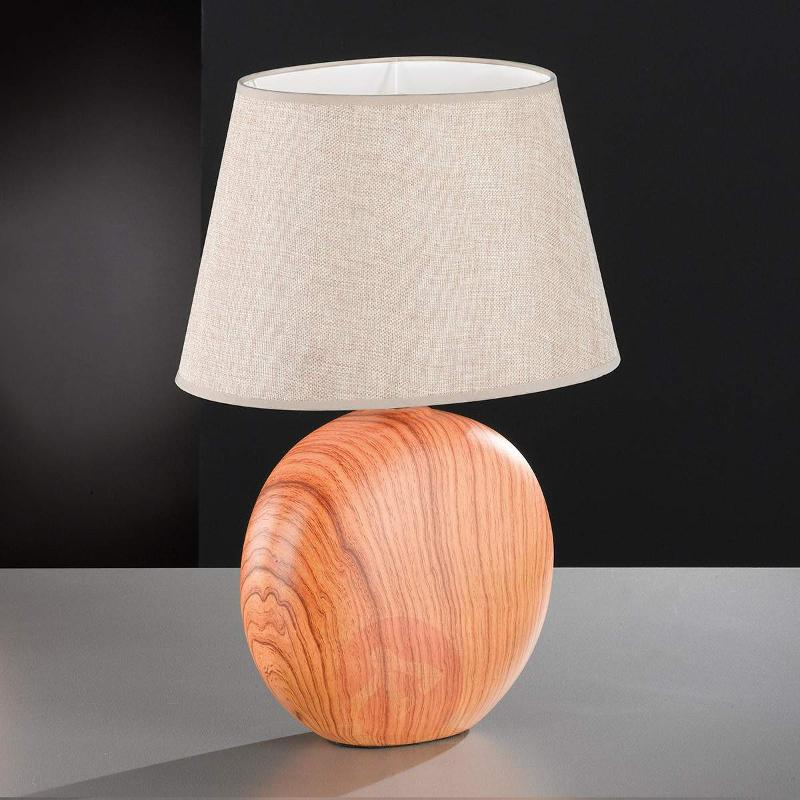 Ceramic table lamp Hill with a wood finish - Window Sill Lights