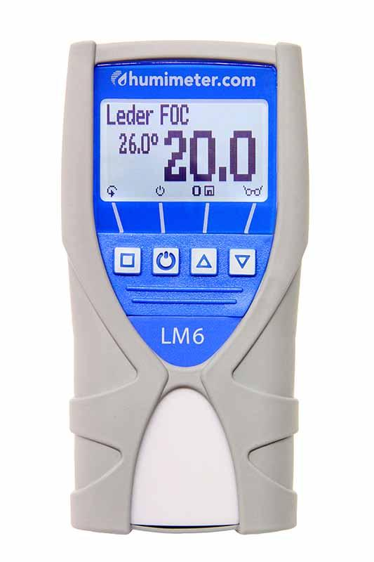 Leather Moisture Meter - humimeter LM6  - Nondestructive handheld leather moisture meter with large measuring range