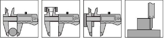 """IP54 Металлический цифровой суппорт - Разрешение: 0.01мм / 0,0005"""" 3 Кнопки: ноль, мм / дюйм, вкл. / Выкл."""