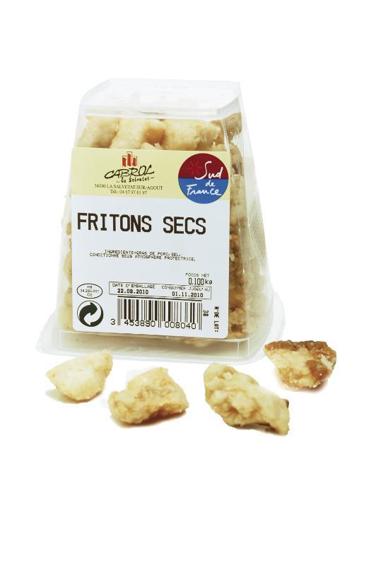 Fritons Secs (Pot Snacking) 100 gr - Viande et volailles
