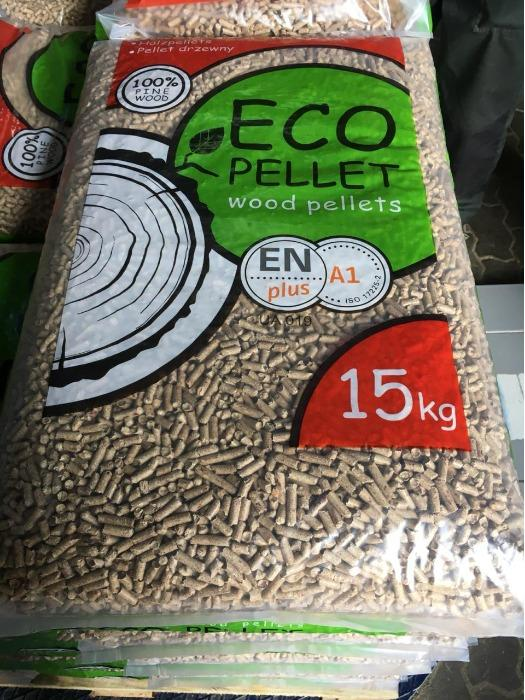 Пеллеты из опилок сосны 6 мм. EN plus A1  - Пеллеты А1 в мешках по 15 кг.