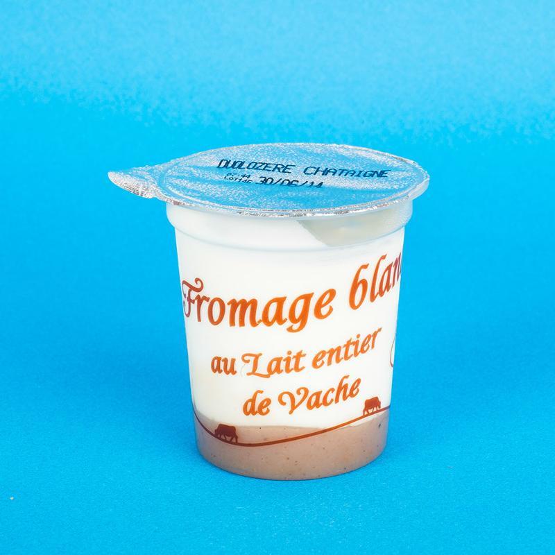 fromage blanc sur lit de châtaigne 4x125G - Produits laitiers