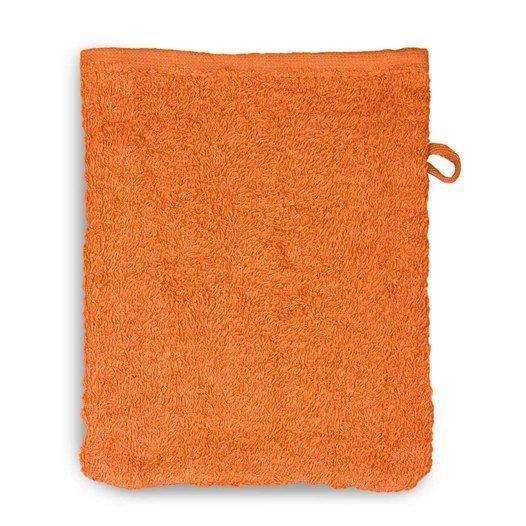 12 Stück Waschhandschuh 15x20 cm Mandarine - null