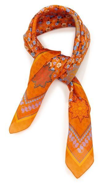 Pongé imprimé mini fleurs - col 2 - orange