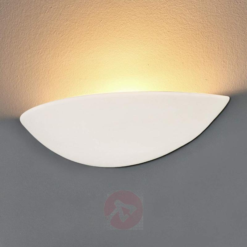 Pale plaster wall light, paintable