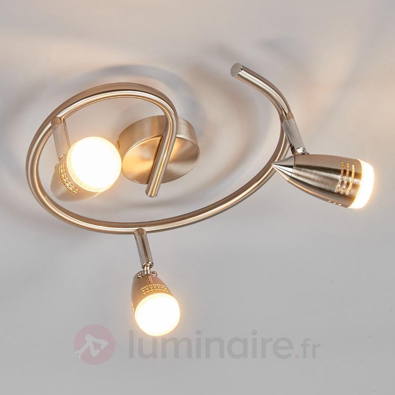 Plafonnier circulaire LED Andy à 3 lampes - Spots et projecteurs LED