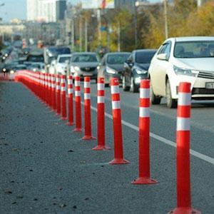 road marker post -