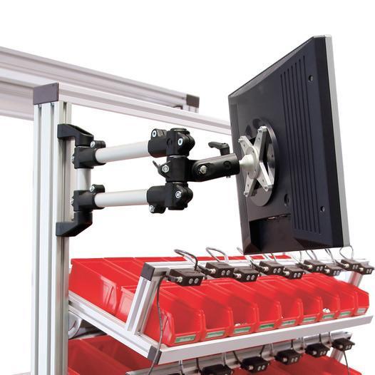 Brazos de soporte - brazos giratorios. - Extremadamente resistente, flexible y personalizable