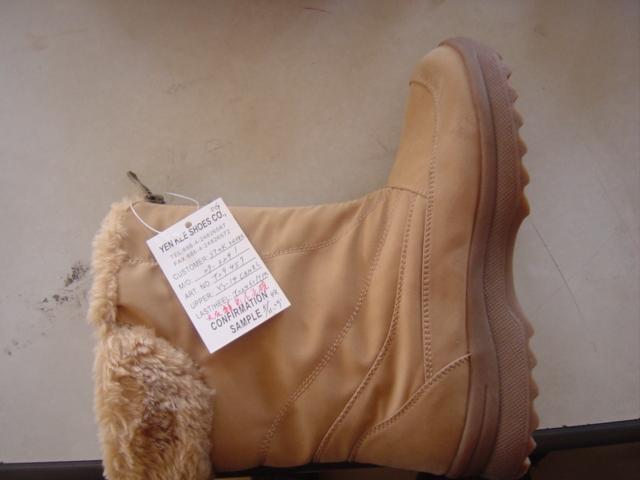 Botas de lana gruesas