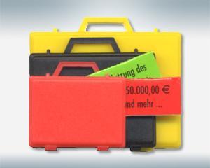 Kunststoffkoffer, Blister - Gimmicks