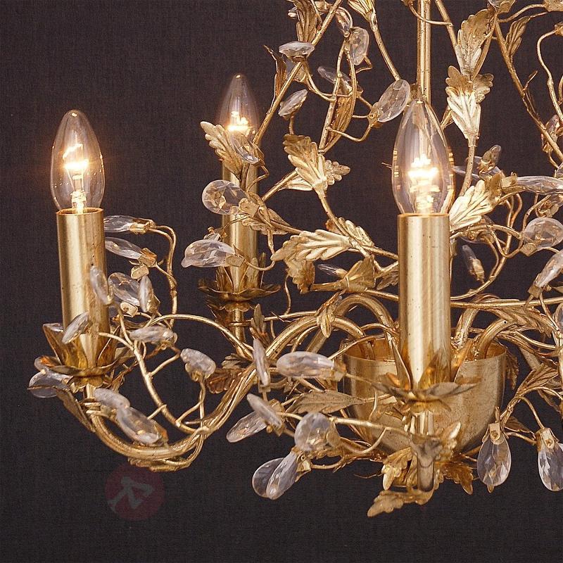 Ravissant lustre Buono à 5 lampes doré - Tous les lustres