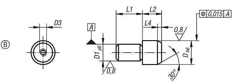 Goupille de positionnement extractible formes B et D - Cimblots, systèmes de positionnement