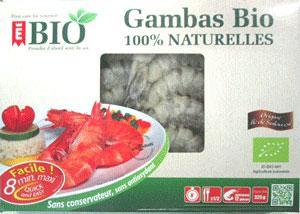 Gambas - Biologiques et surgelées