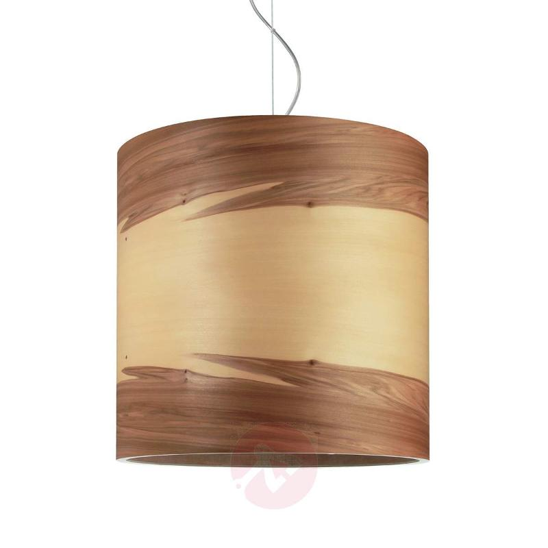 Atmospheric hanging light Funk, walnut - Pendant Lighting